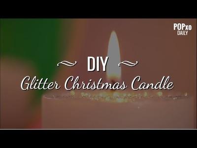 DIY Glitter Christmas Candle - POPxo