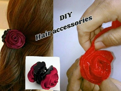 DIY hair accessories - Hair clips making with cloth | jewellery tutorials
