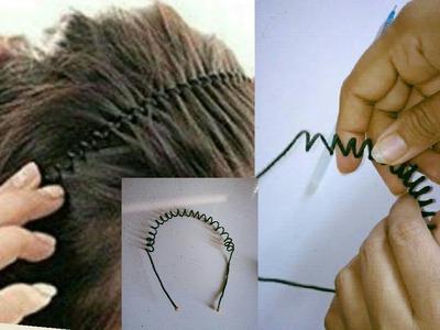 DIY hair accessories - Making with silk thread | jewellery tutorials