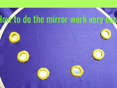 DIY How to do the mirror work very easy way. DIY Mirror work tutorials