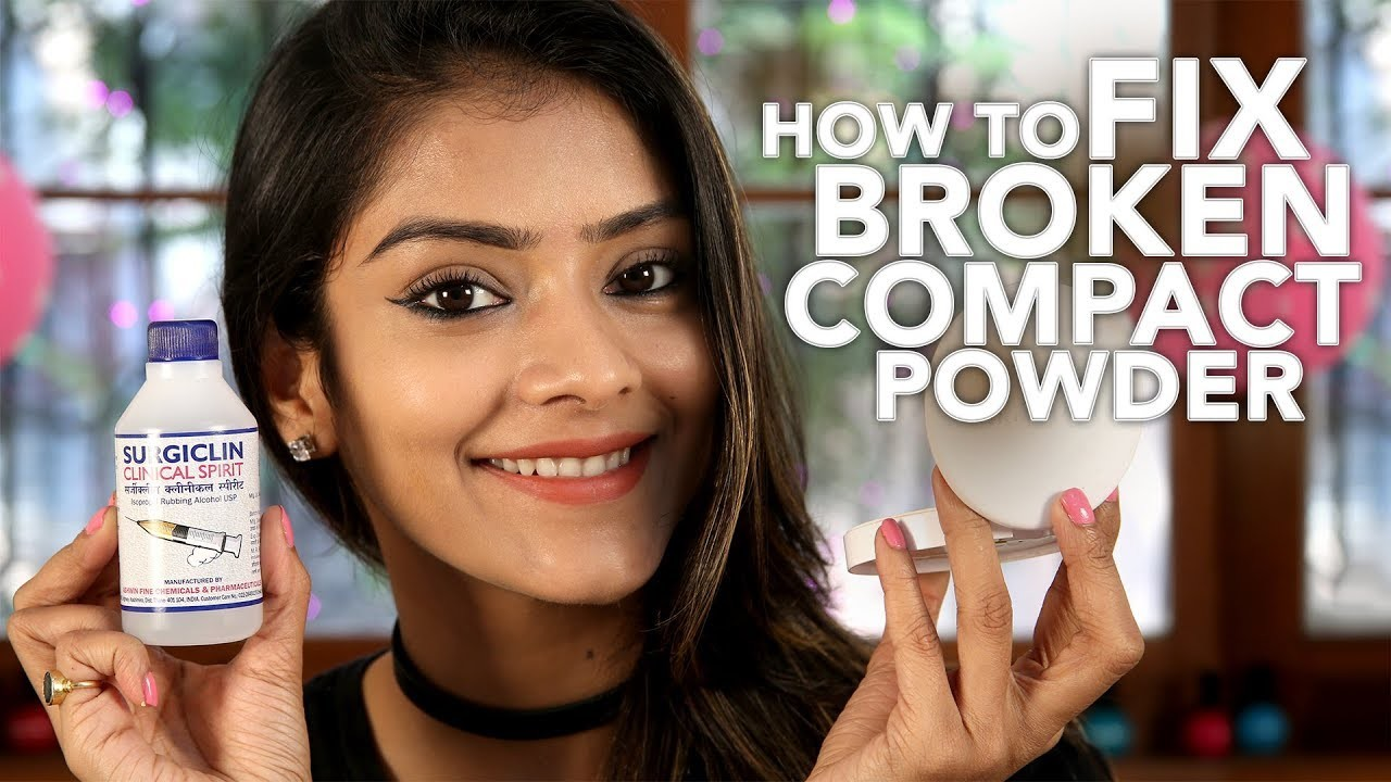 DIY How To Fix Broken Compact Powder | Home Remedies For Makeup | Simple DIY Videos For Girls | Foxy