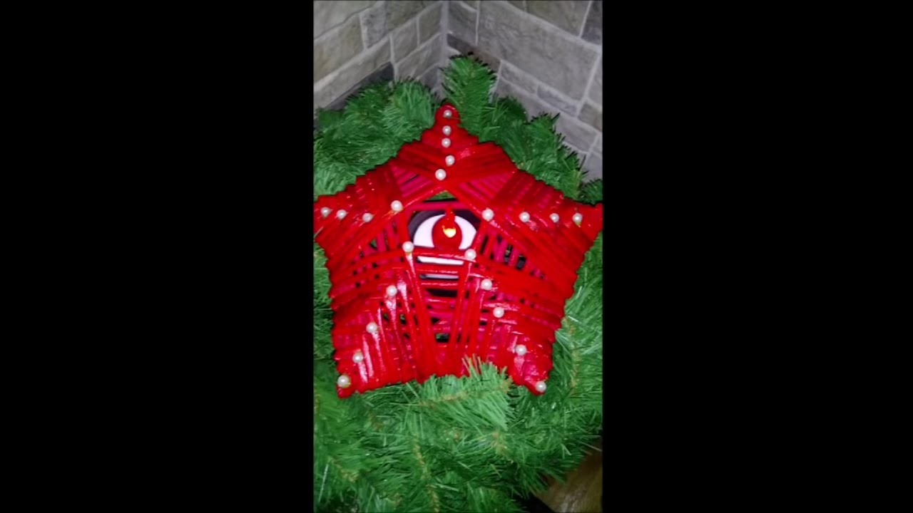 DIY How to Make a Christmas Star Candle using newspaper tutorial