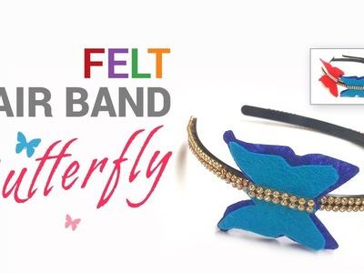 DIY How to make butterfly felt hair belt