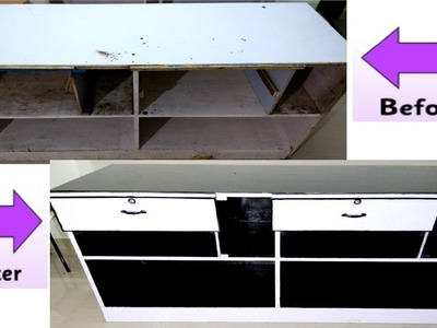 DIY|| How to Turn Your Old Cupboard Table Into New Cupboard At home || Results Amazing