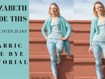 DIY Ice Dyed jeans: fabric ice dye tutorial