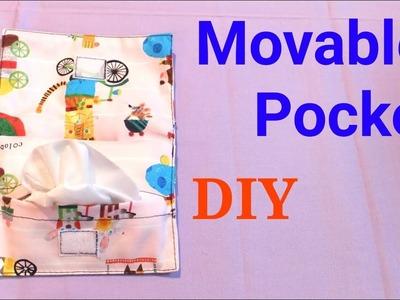 【DIY】移動式ポケットの簡単な作り方 * Movable Pocket Tutorial *