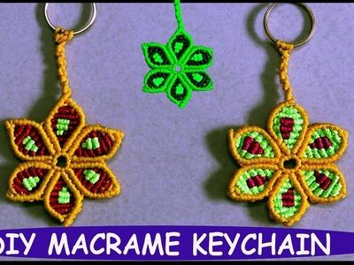 DIY Macrame Flower Keychain