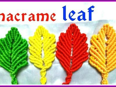 DIY Macrame leaf Design\ Pattern \Keychain  tutorial in hindi