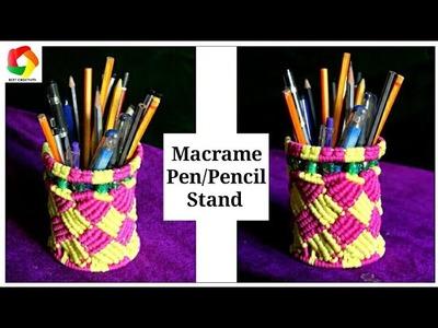 DIY Macrame Pen.Pencil Stand   New Design 2017   Macrame Pen.Pencil holder