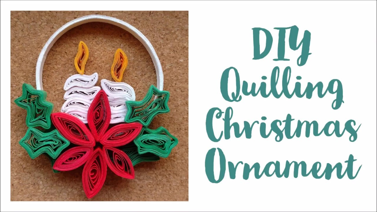Diy Paper Quilling Christmas Tree Decoration 3d Quilling