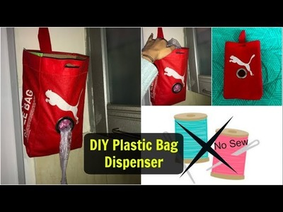 DIY Plastic Bags Dispenser from Old Shoe Bag | No Sew Polybag Organizer | Organizopedia