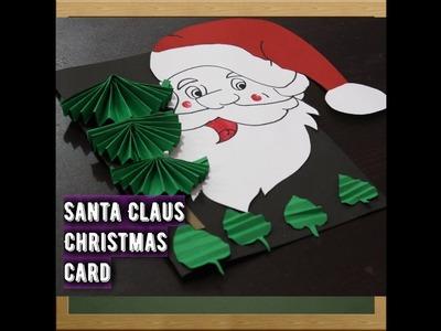 DIY Santa Christmas Card|How to make Christmas Greeting Card for kids | Simple & Easy Christmas Card