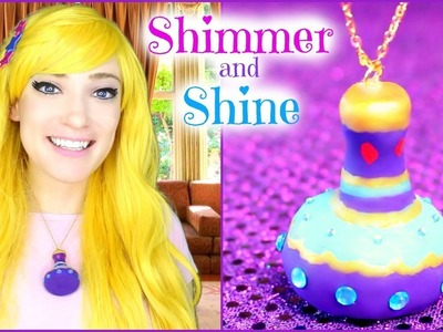 DIY SHIMMER and SHINE Genie Bottle Necklace ????✨