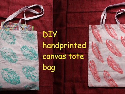 DIY TOTE BAG.How to make canvas tote bag.leaf print tote bag tutorial you need to try now. _ DIY