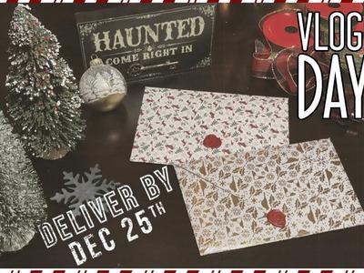 Easy DIY Christmas Card Envelopes. vlogmas day three | 2017