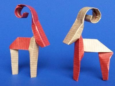 Easy Origami Reindeer Instructions - DIY Paper Christmas Reindeer Decoration Tutorial