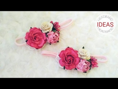 Flower Headband Ideas With Paper Flowers and Lace | DIY by Elysia Handmade