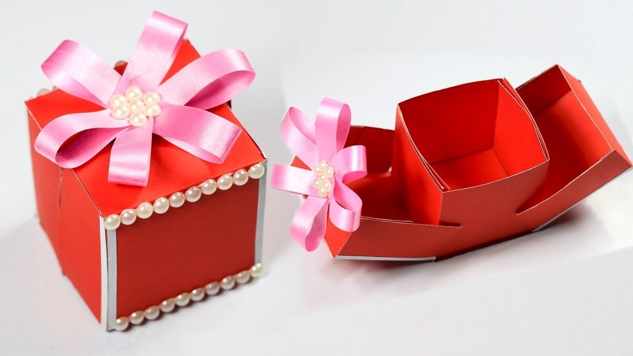 Gift Box How To Make A Gift Box Diy Paper Crafts Idea Christmas