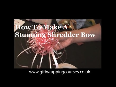 Gift Wrapping Video by Neelam Meetcha - How To Make A Stunning Shredder Bow