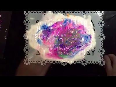 Gorgeous shaving foam prints - inspired by Kelly Donovan! - Part 1