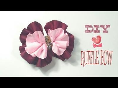Headband Ideas : Ruffle Bow Headband | DIY by Elysia Handmade