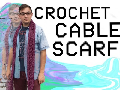 How to Crochet a Cable Scarf for Beginners- QUOEchet Tutorials Episode 1