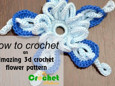 How to crochet an amazing 3d flower pattern - Crochet flowers