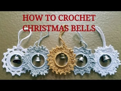 How to crochet Christmas bells ???? Part one  - Silver Star