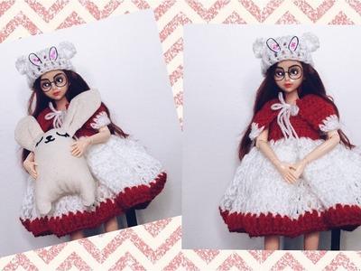 How To Crochet DoLL Christmas Dress