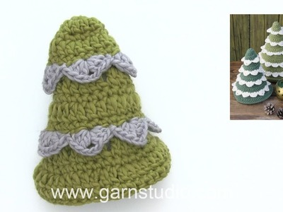 How to crochet the Christmas tree in DROPS Extra 0-1398