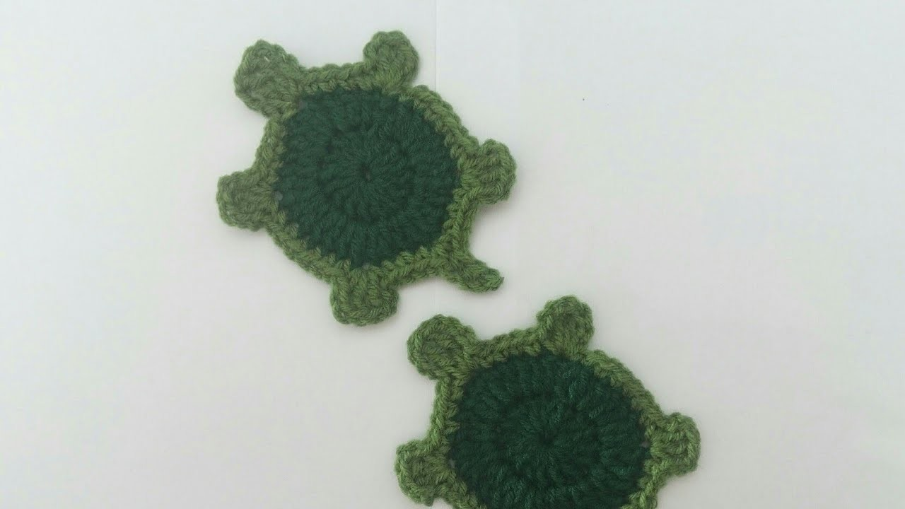 How to Crochet Turtle.Tortoise Applique Tutorial