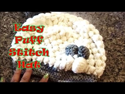 How to DIY Easy Puff Stitch Hat for Beginners!  c1a2c10361ca
