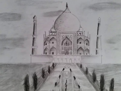 How to draw Taj Mahal (Step by step)