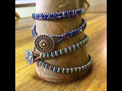 How To Make A Superduo Seed Bead Wrap Bracelet With The Bead Place