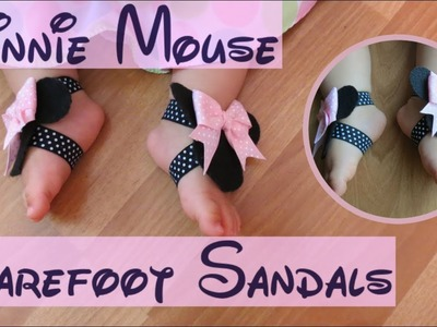 How to Make Adorable Minnie Mouse Barefoot Sandals Disney Inspired
