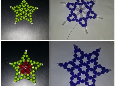 ????How to make beaded Star☆||4 DESIGN