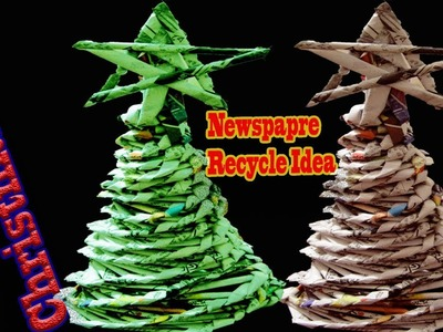 How to make Christmas Tree Using Newspaper || DIY Waste Recycle Ideas || Homemade Xmas Tree