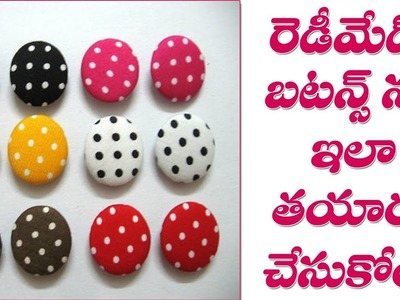 How to Make Fabric Buttons For Dress    DIY Tips    Part 168