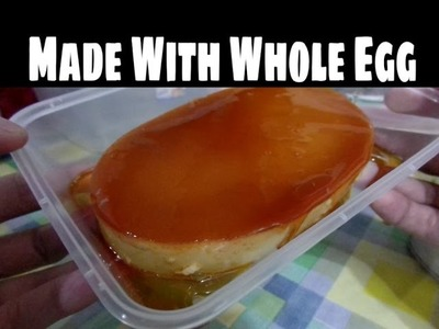 How to Make Leche Flan Made with Whole Egg