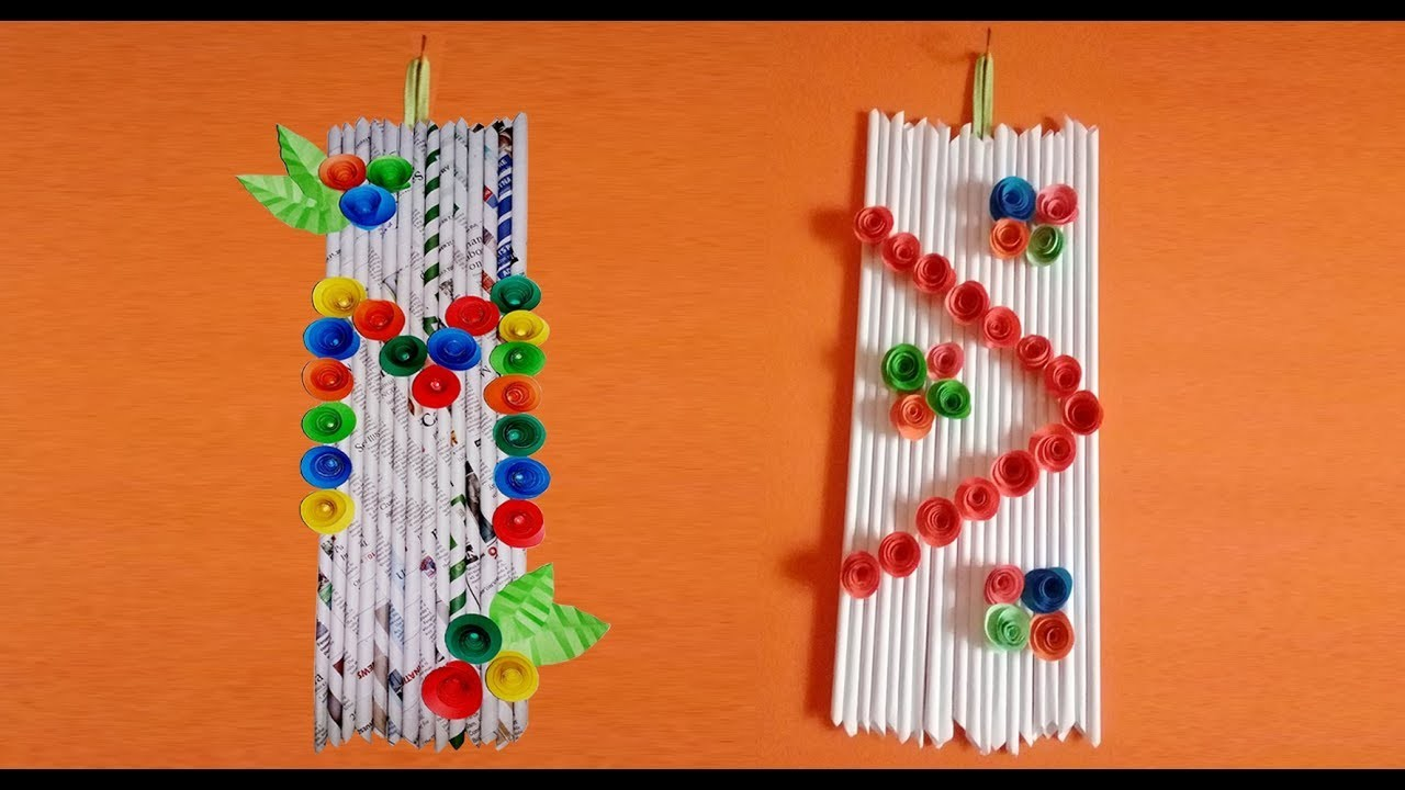 How to make Newspaper Wall Hanging | Wall Mate Frames Flowers DIY | Origami Wallmate