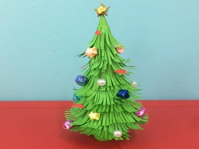 How to Make Paper Christmas Tree | Making Paper Xmas Tree Step by Step | DIY-Paper Crafts