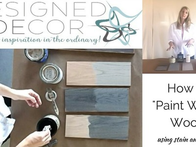 How to Paint Wash Wood
