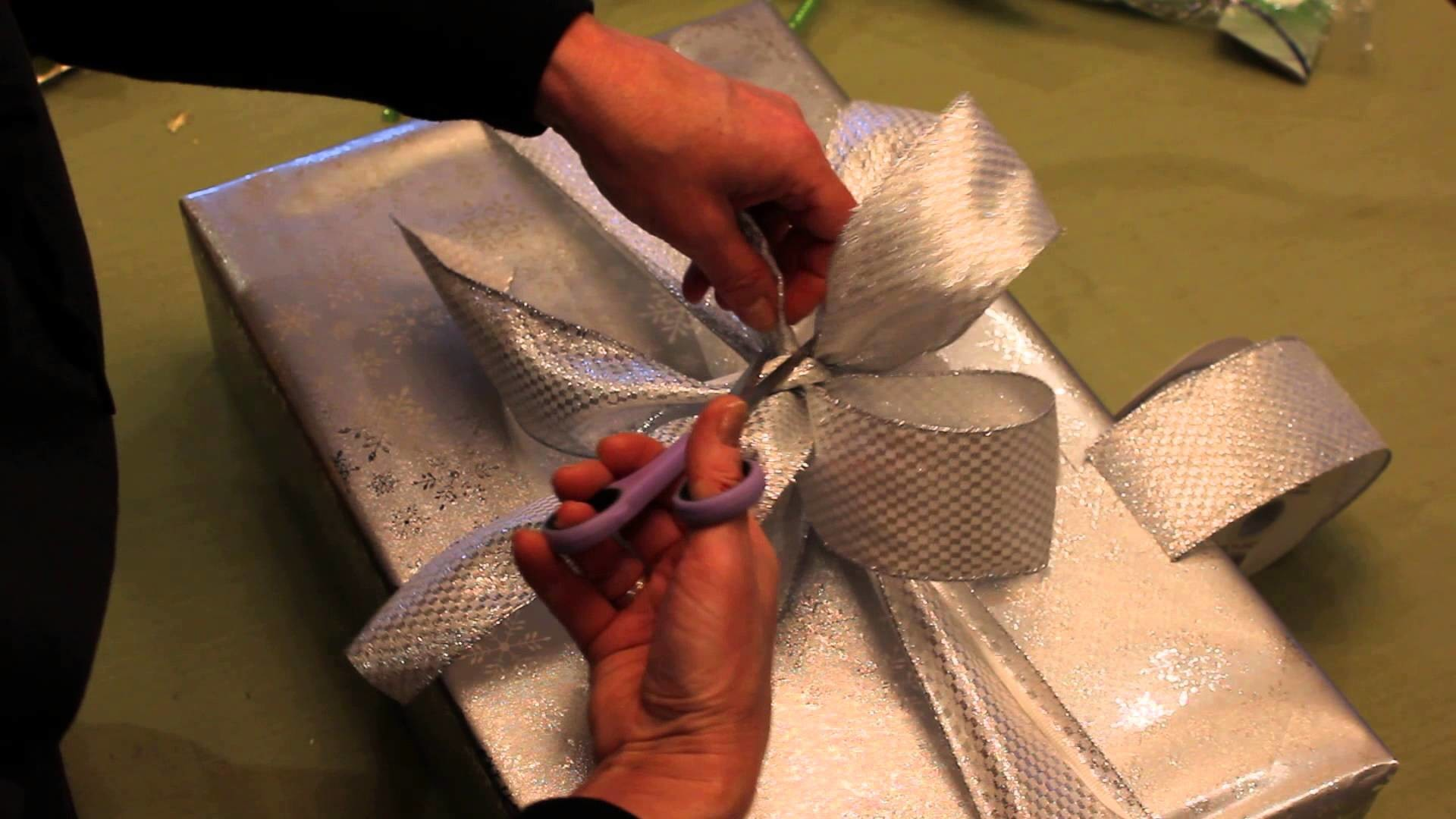 """""""How to Wrap A Gift"""" with ribbon and add a little extra something"""