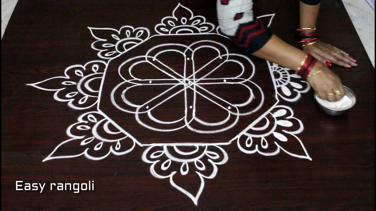Kolam Designs With 5x3 Dots Diy Rangoli Art Designs Step By Step Tutorials Muggulu Designs The term 'kolam' means beauty and is another word for rangoli. mycrafts com