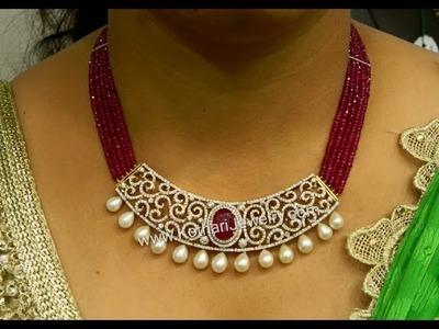Latest Indian Ruby Beads Diamond Emerald Jewellery Designs!!!!!