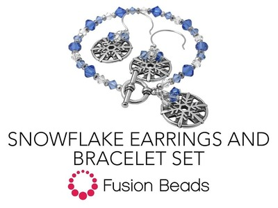 Learn how to create the Snowflake Earring and Bracelet Set by Fusion Beads