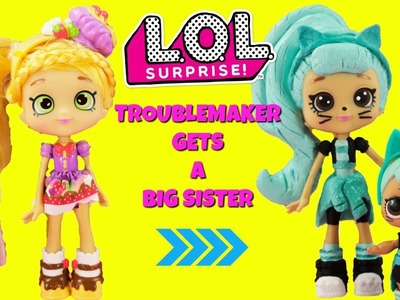 LOL SURPRISE Troublemaker Gets A Big Sister DIY Shopkins Shoppie Doll Pam Cake Custom Makeover