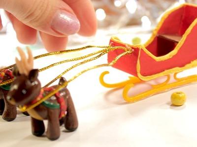 Miniature Christmas Santa Sleigh || DIY