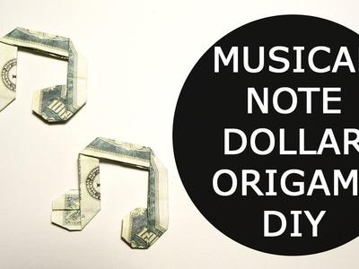 Musical Note Money Origami Dollar Tutorial DIY Folded