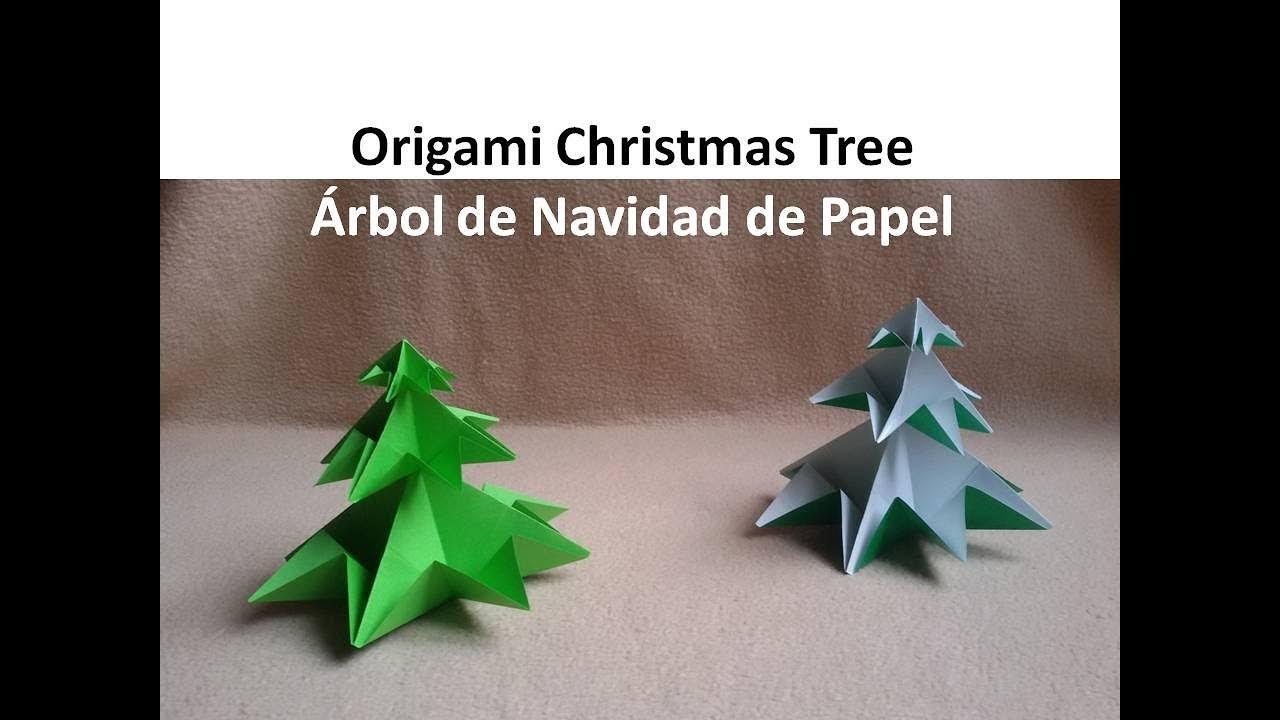 Origami christmas tree arbol de navidad de papel diy - Arbol de navidad origami ...